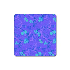 Floral Pattern Square Magnet by Valentinaart