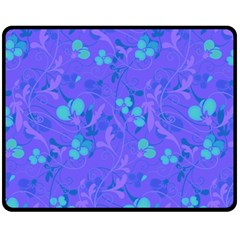 Floral Pattern Double Sided Fleece Blanket (medium)  by Valentinaart