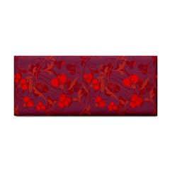 Red Floral Pattern Cosmetic Storage Cases by Valentinaart