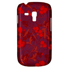 Red Floral Pattern Galaxy S3 Mini by Valentinaart