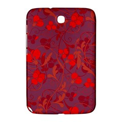 Red Floral Pattern Samsung Galaxy Note 8 0 N5100 Hardshell Case  by Valentinaart