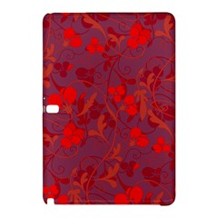Red Floral Pattern Samsung Galaxy Tab Pro 10 1 Hardshell Case by Valentinaart