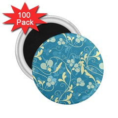 Floral Pattern 2 25  Magnets (100 Pack)  by Valentinaart
