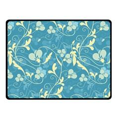 Floral Pattern Fleece Blanket (small) by Valentinaart