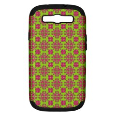 Pattern Samsung Galaxy S Iii Hardshell Case (pc+silicone) by Valentinaart