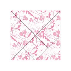 Floral Pattern Acrylic Tangram Puzzle (4  X 4 ) by Valentinaart