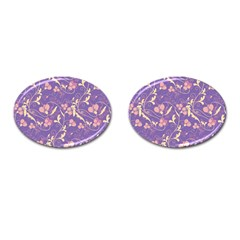 Floral Pattern Cufflinks (oval) by Valentinaart