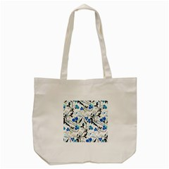 Floral Pattern Tote Bag (cream) by Valentinaart