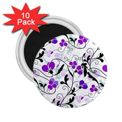 Floral Pattern 2 25  Magnets (10 Pack)  by Valentinaart