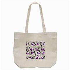 Floral Pattern Tote Bag (cream) by Valentinaart