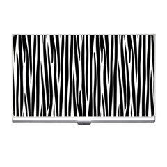 Zebra Pattern Business Card Holders by Valentinaart