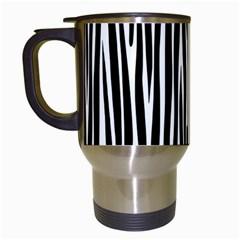 Zebra Pattern Travel Mugs (white) by Valentinaart