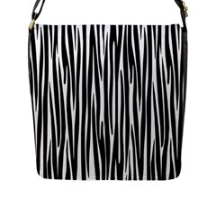 Zebra Pattern Flap Messenger Bag (l)  by Valentinaart