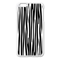 Zebra Pattern Apple Iphone 6 Plus/6s Plus Enamel White Case by Valentinaart