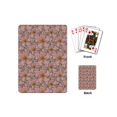 Nature Collage Print Playing Cards (mini)  by dflcprints