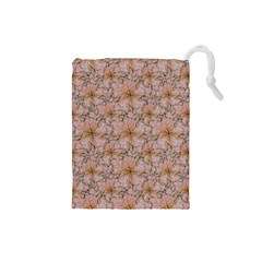Nature Collage Print Drawstring Pouches (small)  by dflcprints