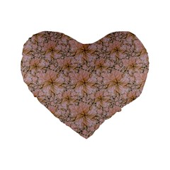 Nature Collage Print Standard 16  Premium Flano Heart Shape Cushions by dflcprints