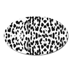 Animal Print Oval Magnet by Valentinaart