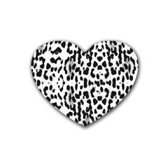Animal Print Rubber Coaster (heart)  by Valentinaart