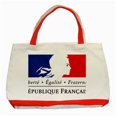 Symbol of the French Government Classic Tote Bag (Red)