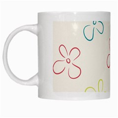 Flower Background Nature Floral White Mugs by Simbadda
