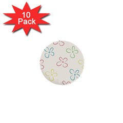 Flower Background Nature Floral 1  Mini Buttons (10 Pack)  by Simbadda