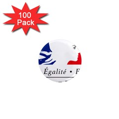 Symbol Of The French Government 1  Mini Magnets (100 Pack)  by abbeyz71