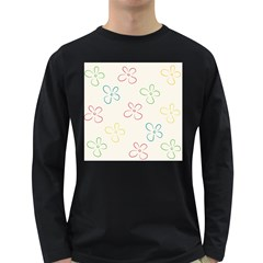 Flower Background Nature Floral Long Sleeve Dark T-Shirts