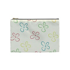 Flower Background Nature Floral Cosmetic Bag (medium)  by Simbadda