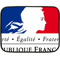Symbol Of The French Government Double Sided Fleece Blanket (mini)  by abbeyz71
