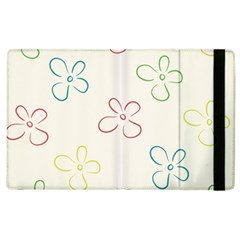 Flower Background Nature Floral Apple Ipad 2 Flip Case by Simbadda