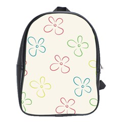 Flower Background Nature Floral School Bags (xl)  by Simbadda