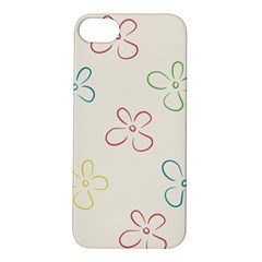 Flower Background Nature Floral Apple Iphone 5s/ Se Hardshell Case by Simbadda