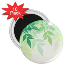 Spring Leaves Nature Light 2 25  Magnets (10 Pack)  by Simbadda
