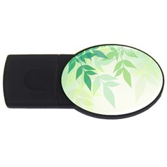 Spring Leaves Nature Light Usb Flash Drive Oval (2 Gb) by Simbadda