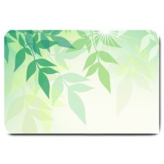 Spring Leaves Nature Light Large Doormat  by Simbadda