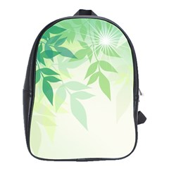 Spring Leaves Nature Light School Bags(large)  by Simbadda