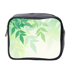 Spring Leaves Nature Light Mini Toiletries Bag 2 Side by Simbadda