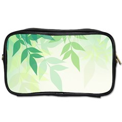 Spring Leaves Nature Light Toiletries Bags 2 Side by Simbadda