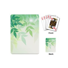 Spring Leaves Nature Light Playing Cards (mini)  by Simbadda
