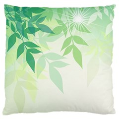 Spring Leaves Nature Light Large Cushion Case (one Side) by Simbadda