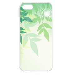 Spring Leaves Nature Light Apple Iphone 5 Seamless Case (white) by Simbadda