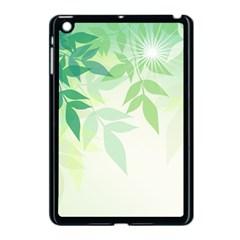 Spring Leaves Nature Light Apple Ipad Mini Case (black) by Simbadda