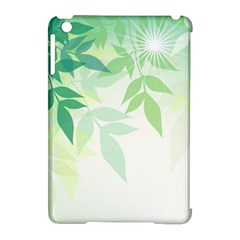 Spring Leaves Nature Light Apple Ipad Mini Hardshell Case (compatible With Smart Cover) by Simbadda