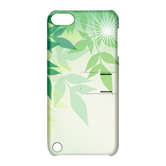 Spring Leaves Nature Light Apple Ipod Touch 5 Hardshell Case With Stand by Simbadda