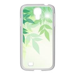 Spring Leaves Nature Light Samsung Galaxy S4 I9500/ I9505 Case (white) by Simbadda