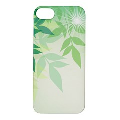 Spring Leaves Nature Light Apple Iphone 5s/ Se Hardshell Case by Simbadda