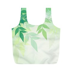 Spring Leaves Nature Light Full Print Recycle Bags (m)  by Simbadda