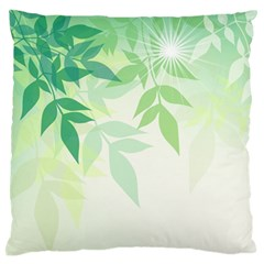 Spring Leaves Nature Light Standard Flano Cushion Case (two Sides) by Simbadda