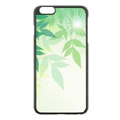 Spring Leaves Nature Light Apple Iphone 6 Plus/6s Plus Black Enamel Case by Simbadda